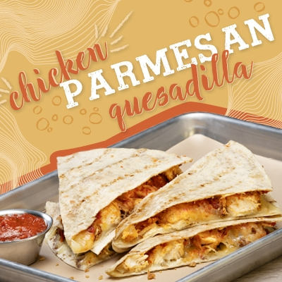 Chicken Parmesan Quesadilla