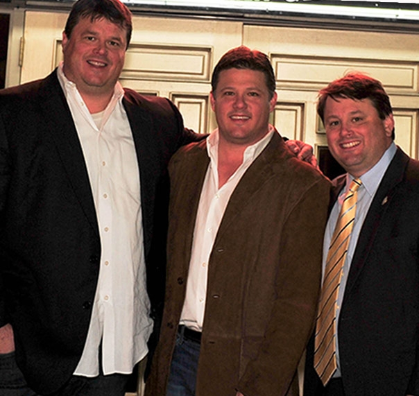 Paul, Steven, and Scott Ballard pictured together at a WOW Cafe event