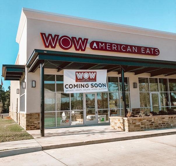New WOW American Eats location in Covington, LA.