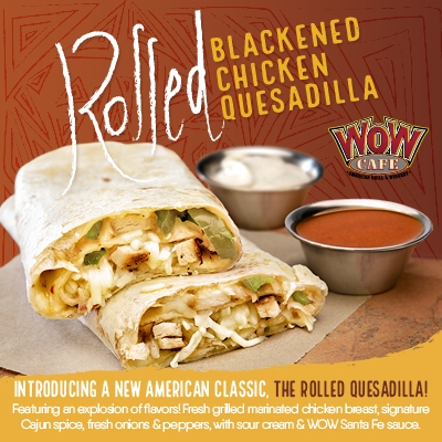 Rolled Blackened Chicken Quesadilla